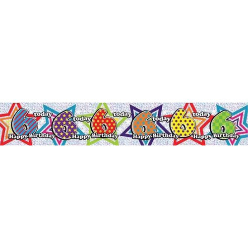 6th Birthday 9ft Wall Banner