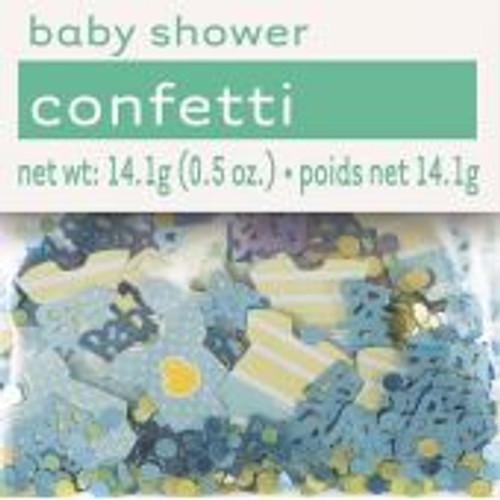 14g Blue Dots Baby Shower Foil Confetti