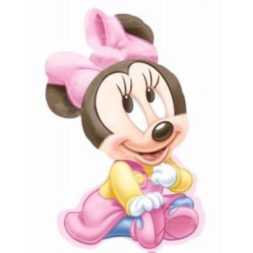 Baby Girl Minnie Supershape Foil Balloon