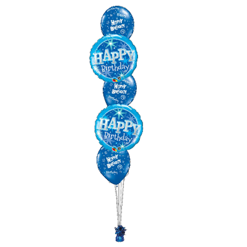 Classic 5 Balloon Bouquet With Foil Weight