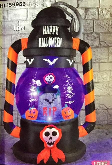 Halloween 1.8m Lantern With Rip Pumpkin Inside Hire
