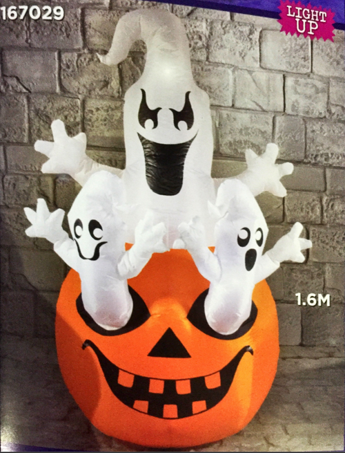 Halloween 1.6m Ghosts On Pumpkin Hire