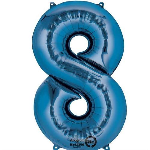 Jumbo Blue Number 8