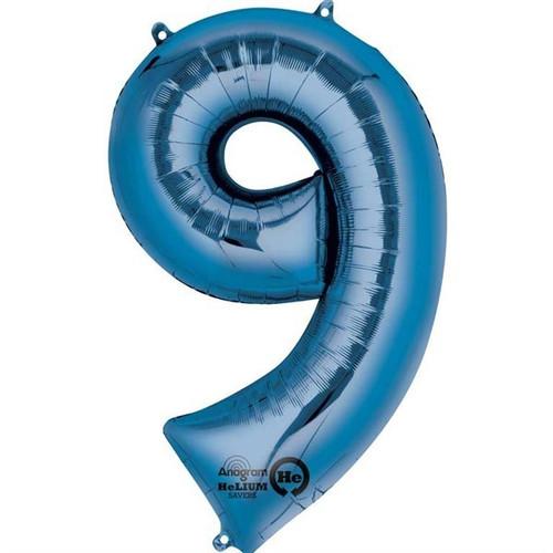 Jumbo Blue Number 9