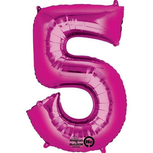 Jumbo Pink Number 5