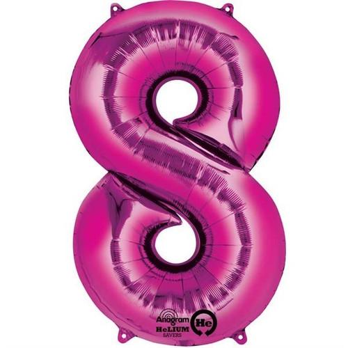 Jumbo Pink Number 8