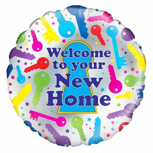 New Home 18 Inch Foil Balloon