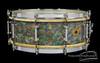 1928-1930 Ludwig Standard Model  Rainbow Pearl / Peacock I Snare :  5 x 14