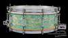 1928 Ludwig 'Super Ludwig' Model Turquoise Blue Snare Drum :  5 x 14