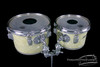 "1960s Rogers Concert Toms WMP Vintage Drums White Marine Pearl : 8"" & 10"""