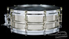 1920s Ludwig 'All Metal' Vintage 2-Piece Brass Snare Drum : 5 x 14