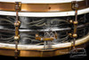 1920s Ludwig DeLuxe Black Beauty 'Floral 12-Point' Engraved :  4 x 14