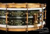 1920s Ludwig DeLuxe Black Beauty 'Floral 12-Point' Engraved :  5 x 14