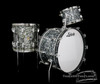 1960s Ludwig Pre-Serial New Yorker Drum Kit : Black Diamond Pearl : 22 12 14