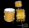 1950s-60s Slingerland Radio King Gold Sparkle Drum Kit : 20-12-14