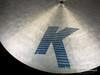 """1982-88 Zildjian EAK 20"""" Flat Ride : 'Early American K' Cymbal : 2300g"""