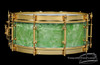 1930s Slingerland 'Fancher' Model Snare Drum Sea Green Pearl : 5 x 14