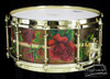 2007 Custom Oil Painted Rose Snare Drum : 20 Ply Shell