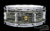 1966 Ludwig Oyster Black Pearl Jazz Festival Snare Drum Vintage Keystone: 5 x 14