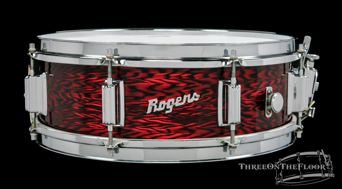 1965 Rogers Powertone Vintage Snare Drum Red Onyx Pearl : 5 x 14