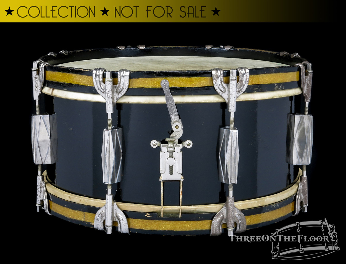 1940s Gretsch Pre-Badge Broadkaster 'Orchestra' Snare Drum