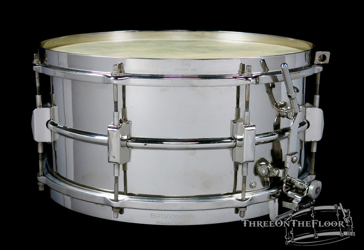1932-38 Leedy Broadway Parallel Model Snare Drum Brass : 6 x 14