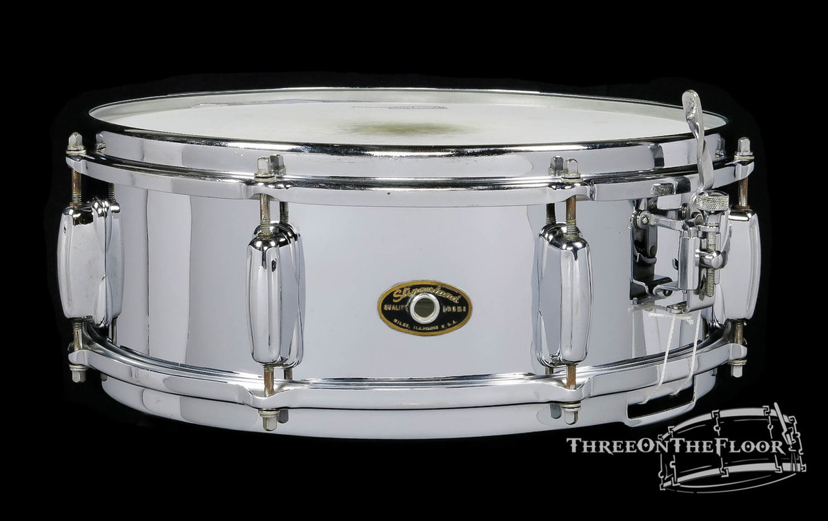 1960-62 Slingerland Sound King Brass Snare Drum : 5x14