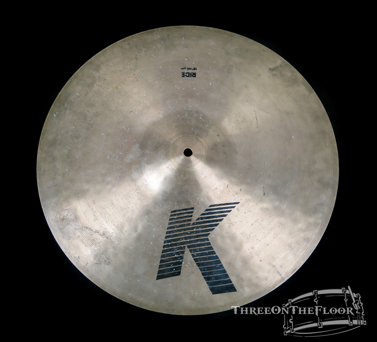 "1978-81 Zildjian EAK 18"" Ride : 'Early American K' Cymbal Crash : 1800g"