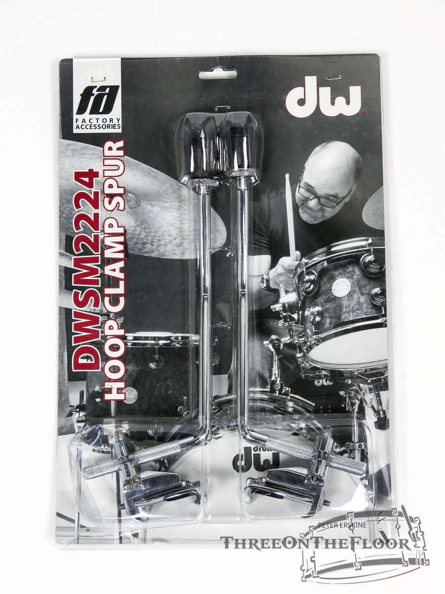 DW Drum Workshop Bass Drum Clip On Spurs / Legs : DWSM2224