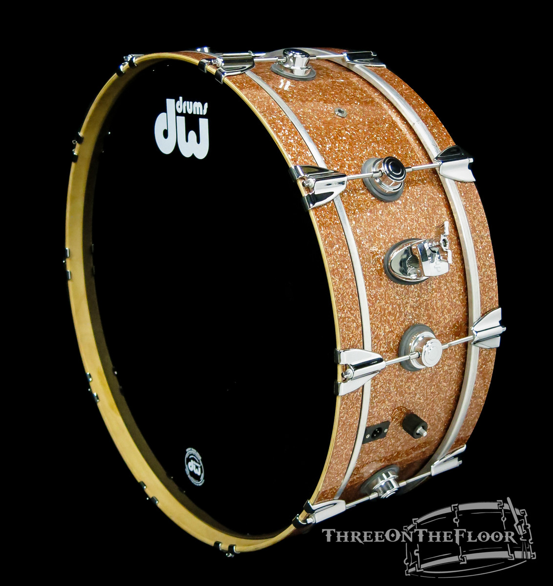 DW Drums Collectors 8x24 Bass Drum Woofer Champagne Glass 2007