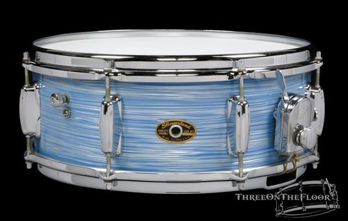 1960s Slingerland Artist Model Vintage Snare Drum BLUE RIPPLE PEARL : 5 x 14