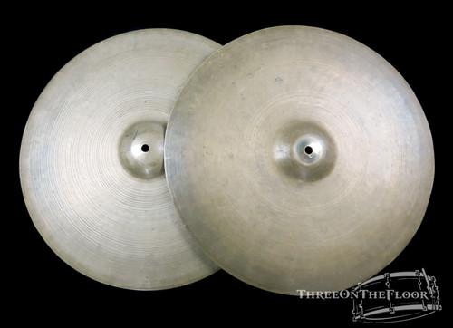 "1950s Zildjian Trans Stamp Avedis 16"" Hi Hats Cymbals : 1050 & 1070 : SOLD"