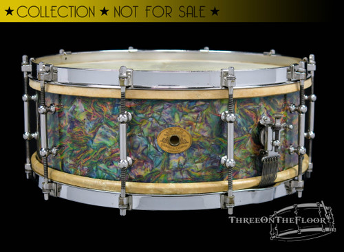 1928-1930 Ludwig Standard Model  Rainbow Pearl / Peacock I Snare :  5 x 14