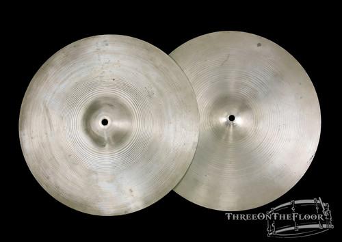 "1950s Zildjian Avedis Stamp Avedis 15"" Hi Hats Cymbals : 1190 & 1380 : SOLD"