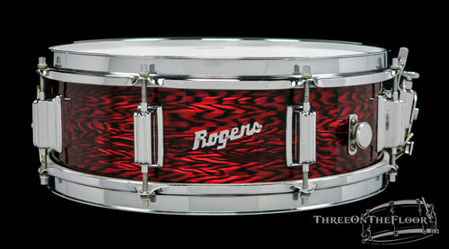 1965 Rogers Powertone Vintage Snare Drum Red Onyx Pearl : 5 x 14 : SOLD