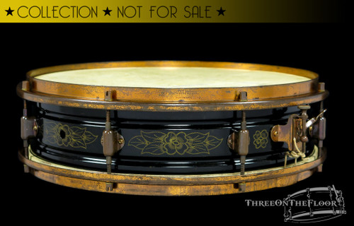 1923-25 Leedy Multi-Model 'Black Elite' Snare Drum :  4 x 14