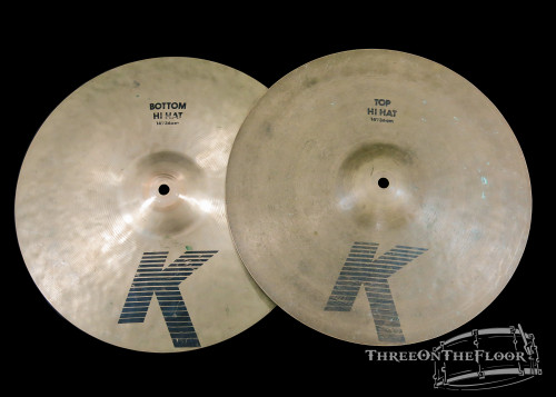 "1982-88 Zildjian EAK 14"" Hi Hat Cymbals : 'Early American K' : 1220/1500g"