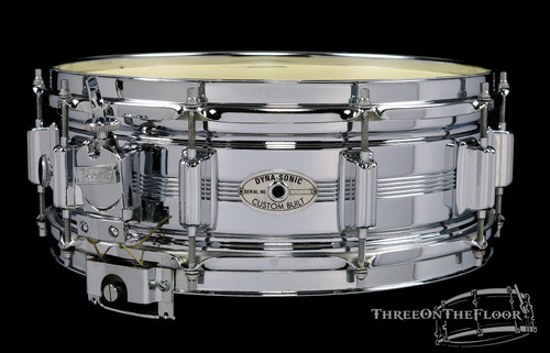 1972 Rogers Dynasonic COB Brass Vintage Snare Drum : 5 x 14