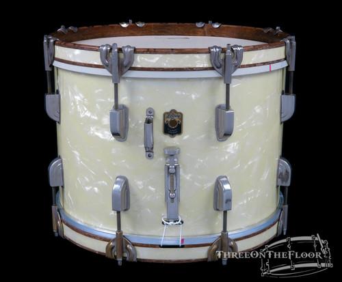 1940s Leedy 'Academy Street' Snare Drum Field Marching WMP Pearl : 10 x 14