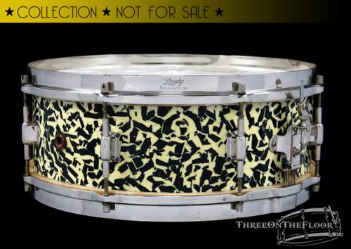 1930s Leedy Black Onyx Professional Model 'Separate Tension' Snare Drum :  5 x 14
