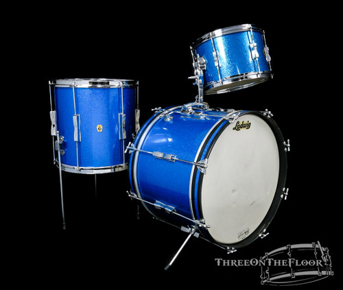1965 Ludwig Club Date Blue Sparkle Kit : 20 12 14 **SOLD**