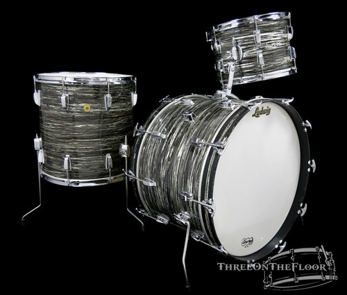 1960s Ludwig Super Classic Drum Kit : Oyster Black Pearl : 22 13 16