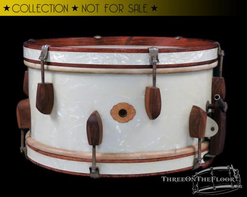1940s Slingerland WWII Rolling Bomber Model Snare Drum  : 7 x 14