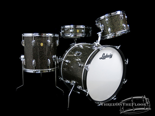 1965 Ludwig Galaxy Sparkle Down Beat Kit : 20 12 14 14
