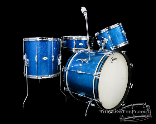 1960s Camco Tuxedo Model Drum Kit :  14x20 - 8x12 - 14x14 - 5x14