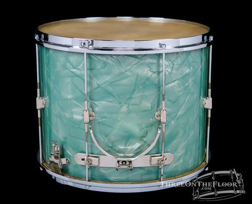 1923-25 Leedy Multi-Model Field Snare Vintage Drum Turquoise Pearl : 11 x 15