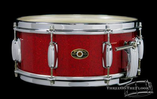 1950s Slingerland Super Gene Krupa Model Radio King Snare Drum Red Sparkle : 5.5 x 14