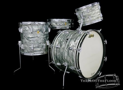 1965 Ludwig Downbeat Vintage Drum Kit : Sky Blue Pearl : 20 12 14 14