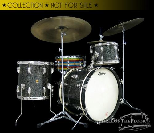 1960 Ludwig  Anniversary Sparkle Downbeat Drum Kit : 20 12 14
