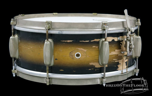 1950s Slingerland Student Model Radio King Snare Drum Duco : 5.5 x 14